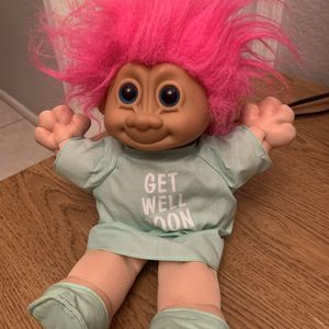 "Russ Berrie Pink Hair Get Well Soon Troll Baby Doll Plush 12"" Tall Cloth for Sale in Phoenix, AZ"