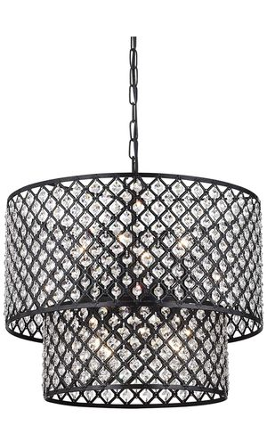 Chandelier | Double Round Antique Bronze Crystal (Like New) for Sale in Irvine, CA