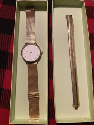 H&M watch and gold plated bracelet good condition make offer for Sale in Oxon Hill, MD