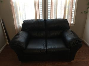 Free black leather sofa for Sale in Manassas, VA