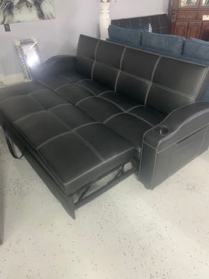 Black extended futon for Sale in Austell, GA