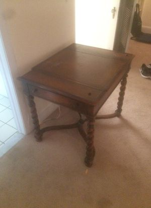 Table with drawers and reversable top for backgammon and chess for Sale in Washington, DC