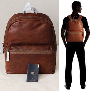✨New FRYE Dylan Leather Mens Backpack Bookbag Cognac NWT for Sale in Conroe, TX