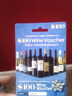 100 dollar Wine Voucher for nakedwines for Sale in Durham, NC