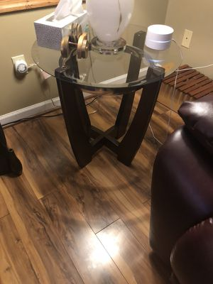 Bonded leather recliner sofa, recliner loveseat, recliner chair, two end tables and coffee table for Sale in Waynesboro, VA