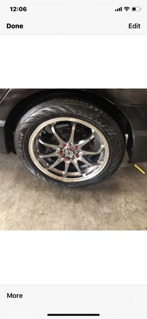 Car rims 4 set with tires for Sale in Chicago, IL