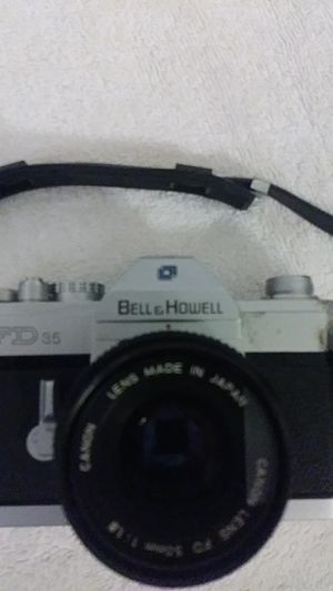 Bell& howell 35mm camera with canon FD 50mm lens good working condition no case has some wear sold as is pick up only for Sale in Berwyn Heights, MD