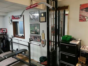 Lat machine/rows/triceps & biceps 250lb Stack for Sale in Homer Glen, IL