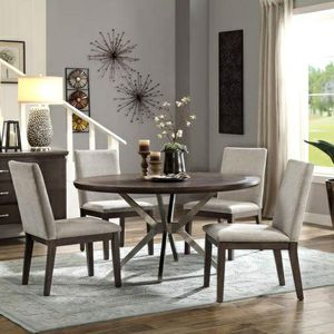 Ibiza Brown Round Dining Set 5 piece $39 down payment for Sale in Arlington, VA