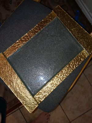 Gorgeous golden decorative glass for Sale in Houston, TX