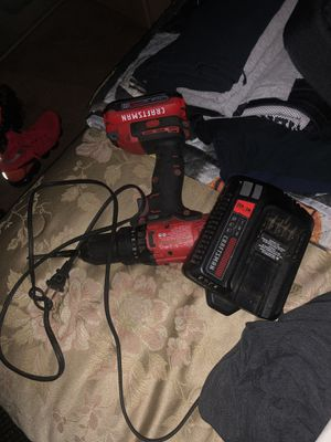 Craftsman hammer drill with charger and 2 batteries for Sale in Germantown, MD