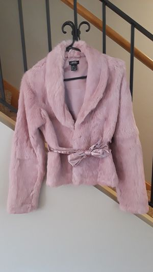 Pink Rabbit Fur Coat - Nordstroms for Sale in Everett, WA