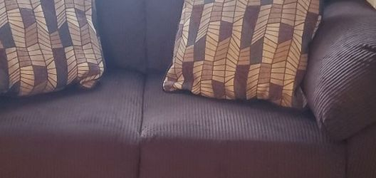 Living Room Set; Includes Brown Sofa, Loveless, 3pc Tables for Sale in Phoenix,  AZ
