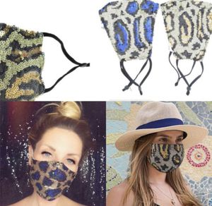 Clearance !!!! 12 pc x New style super cute leopard sequin bling rhinestone party fabric face mask for Sale in Los Angeles, CA