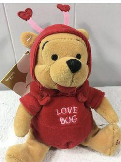 NWT Vtg DIsney Store Winnie the Pooh Firefly Love Bug Mini Bean Bag Plush 2000 for Sale in Aliquippa,  PA