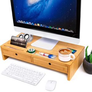 Bamboo Monitor Stand Riser only one drawer for Sale in Hacienda Heights, CA