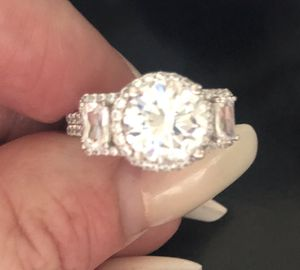 Size 8 silver Austrian stone stamped 925 ring high quality for Sale in Denver, CO