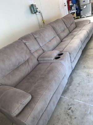 Fully Reclining Couch (USB ports too) for Sale in San Ramon, CA