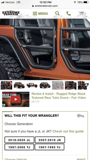 Jeep doors for Sale in Highland, CA