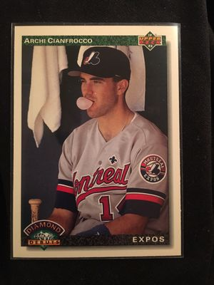 1991-92 Upper Deck #772 Archi Cianfrocco Expos Diamond Debuts ERRORS Baseball Single Trading Card Unused Stored New for Sale in La Habra Heights, CA