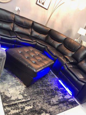 Led Light Recliner Sectional Sofa for Sale in Las Vegas, NV