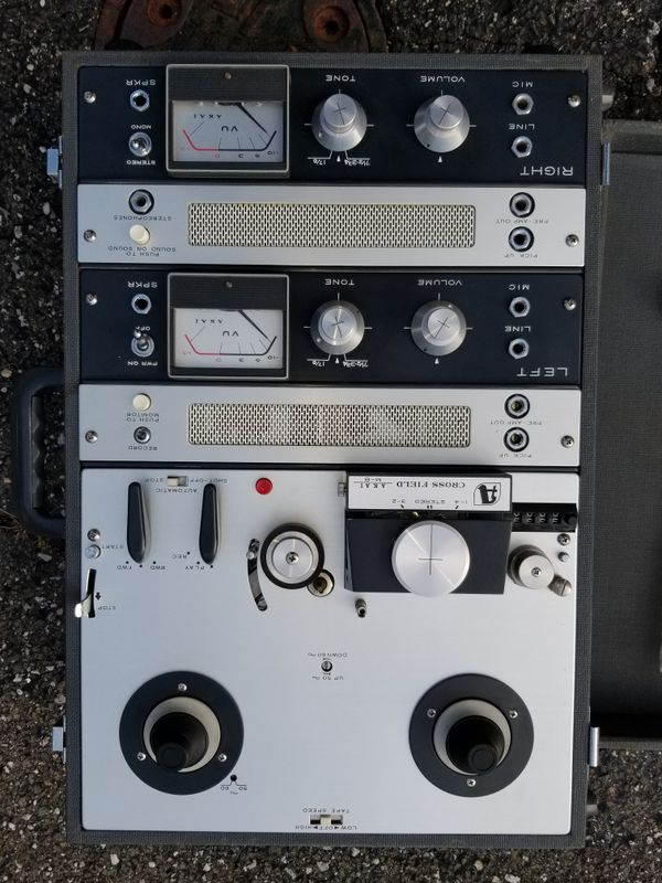 Vintage AKAI M-8 Reel To Reel Cross Field Tape Player collectible antique
