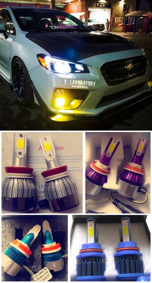 H1 H3 H4 H7 H11 H13 Led headlights or fog lights for any car $25 for Sale in West Covina, CA