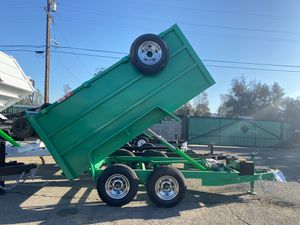 5x10x4 DUMP TRAILERS TA (6k) for Sale in Bloomington, CA