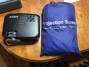 """Projector with 100"""" screen for Sale in Lubbock, TX"""