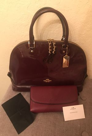 Coach Sierra Satchel with matching wallet for Sale in Brandon, FL