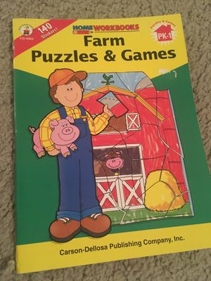 Home Workbooks - Farm Puzzles & Games for Sale in Round Rock, TX