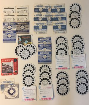 Lot of Vintage Sawyers GAF Viewmaster Reels (45 Individual Reels) and 2 extra envelopes for Sale in Hillsboro, OR