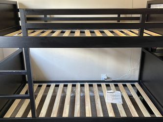 Twin/twin size Wood Bunkbeds Mattress NOT included for Sale in Downey,  CA