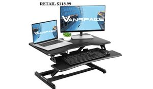 Standing Desk Converter, Stand-up Desk, Dual Monitor Riser with Removable Keyboard Tray, Height Adjustable BRAND NEW! for Sale in Virginia Beach, VA