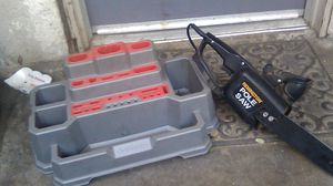 Tool organizer and elec. Chainsaw for Sale in Bakersfield, CA