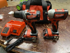 milwaukee hammer drill and impact driver 18 V for Sale in Durham, NC