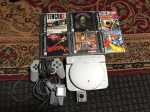 PlayStation one w/LCD screen + solid game titles for Sale in San Pedro, CA