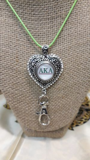 Alpha Kappa Alpha Necklace with Badge Holder ( SHIPPING ONLY) for Sale in Jacksonville, FL