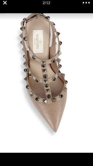 Valentino garavani rockstud luxury designer shoes for Sale, used for sale  Queens, NY