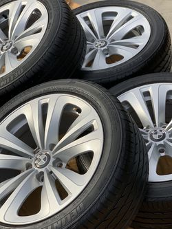 Oem bmw 18 inch wheels rims with 85% delinte 245/45/18 tires 5x120 8x18 for Sale in Mission Viejo,  CA