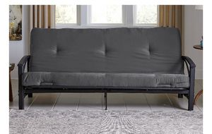 """Mainstays 6"""" Tufted Futon Mattress, Gray, DE-1961 for Sale in St. Louis, MO"""