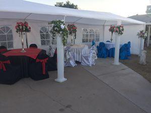 Mesas y sillas manteleria y cubre sillas for Sale in Phoenix, AZ