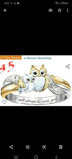 Owl Rings for Women - Exquisite, Women Band Ring Jewelry Gift Wedding Engagement Ring for Your Love for Sale in Newark, NJ