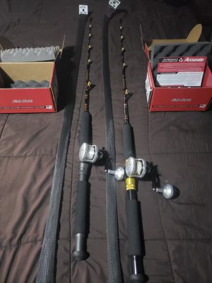 Calstar WS3H 20-50 and a WS3 15-30 Whopper Stopper rods with two Accurate Tern TX-300X for Sale in Garden Grove, CA