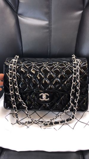 CHANEL Classic Double Flap Shoulder Bag Black Patent Leather for Sale in Alpharetta, GA