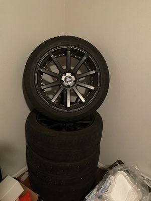 20 inch rims and tires for Sale in Glendale, AZ
