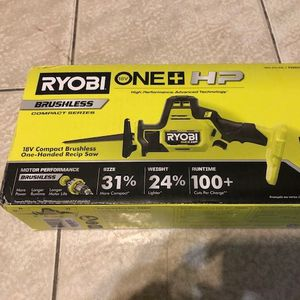 Ryobi One+ 18V Compact Brushless One-Handed Reciprocating Saw Tool Only PSBRS01B for Sale in Philadelphia, PA