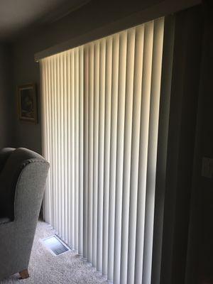 Vertical blinds for sliding glass door for Sale in Modesto, CA