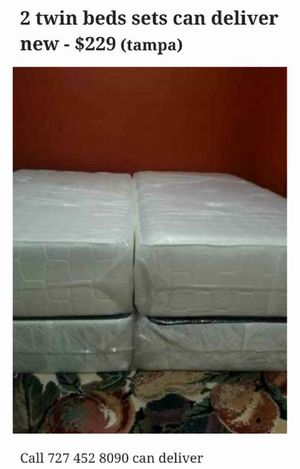 2 twin beds sets can deliver for Sale in Tampa, FL