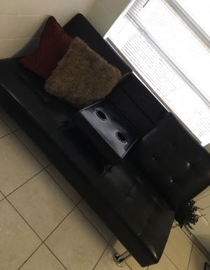 Leather Futon Couch for Sale in Boynton Beach, FL